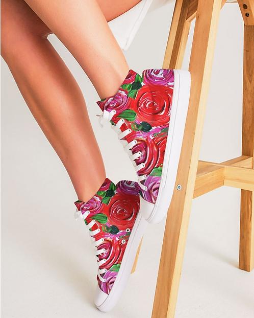 Secret Garden Women's Hightop Canvas Shoe
