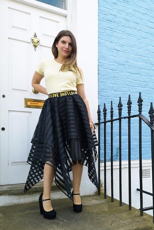Black Stripes Skirt