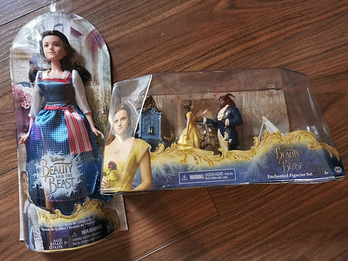 Belle Doll and Beauty and the beast figurine Playset BOTH NEW