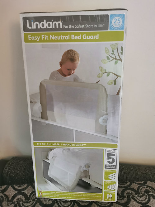 NEW Lindam Neutral Bed Guard
