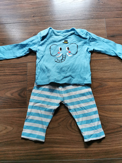 3-6 Month Elephant Pj Set