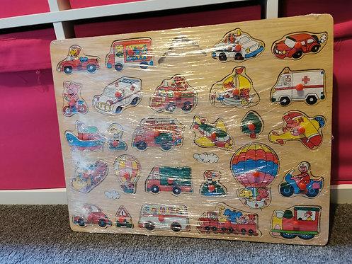 Vehicle puzzle - 1 piece missing