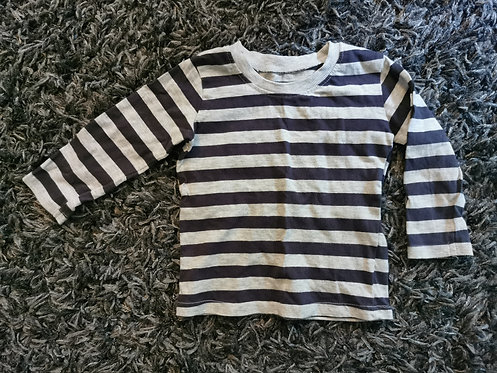9-12 Months Stripy long Sleeved top