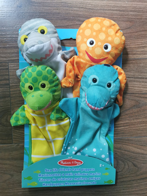 Melissa and Doug Sealife Friends Hand Puppets NEW