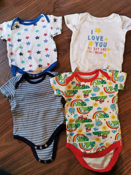 4x baby vests 0-3m