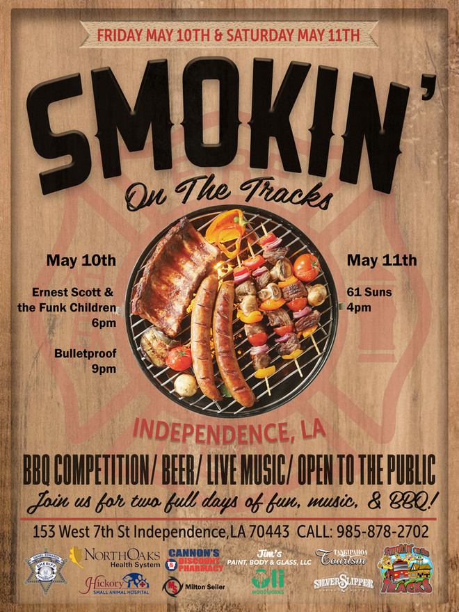 Smokin on the Tracks Poster 2019