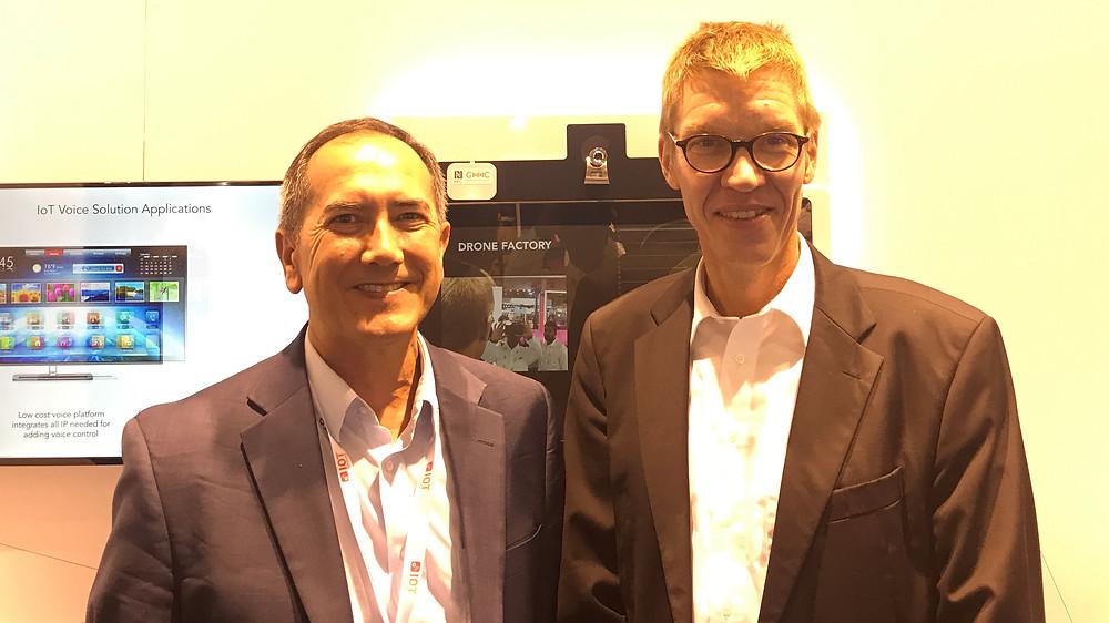 Sam Fuller, NXP with Carsten Strampe, IMAGO Technologies