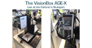 IMAGO Technologies' VisionBox AGE-X at AIT's booth at the Control