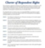 Charter of Respondent Rights