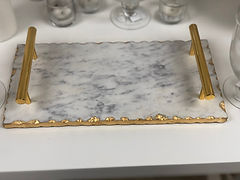 Gold Marble Tray