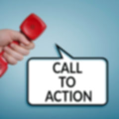 Call to action concept with red phone in
