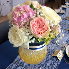 Composition Roses & Hortensias