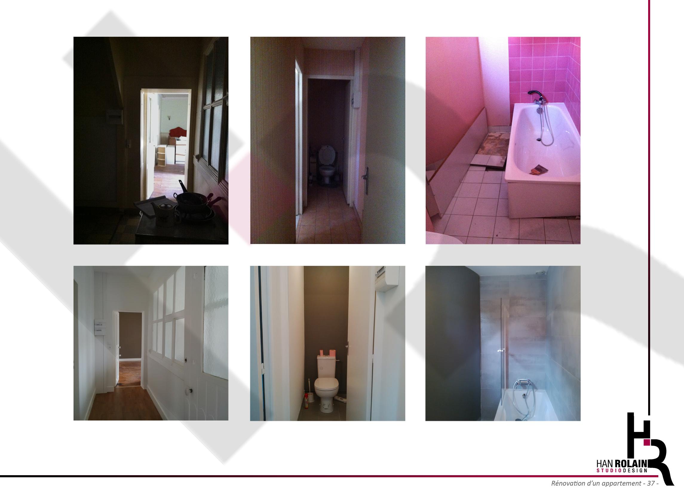 Appartement D - Avant/Pendant/Après