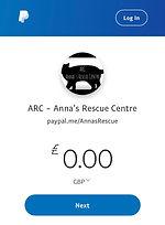 ARC Anna's Rescue Cente Paypal