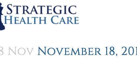Strategic Health Care News Update 11/18/19