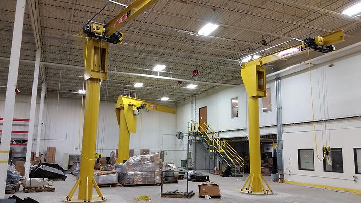 Floor mounted full motorized jib crane w