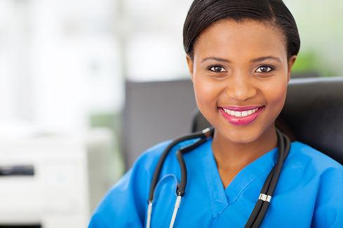 beautiful female african american medica