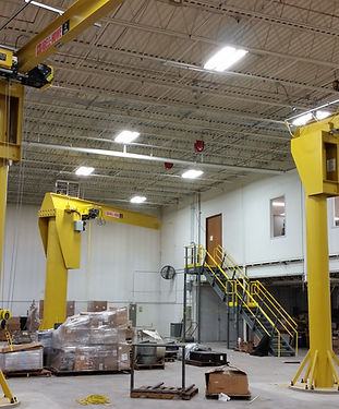 Floor mounted full motorized jib crane w
