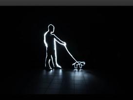 Licht-Experimente der Foto- und Multimediakaufleute