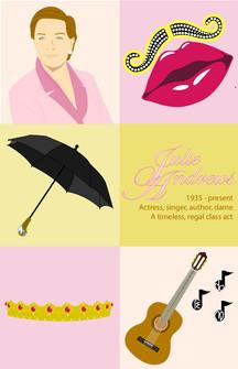 Julie Andrews Illustration Poster