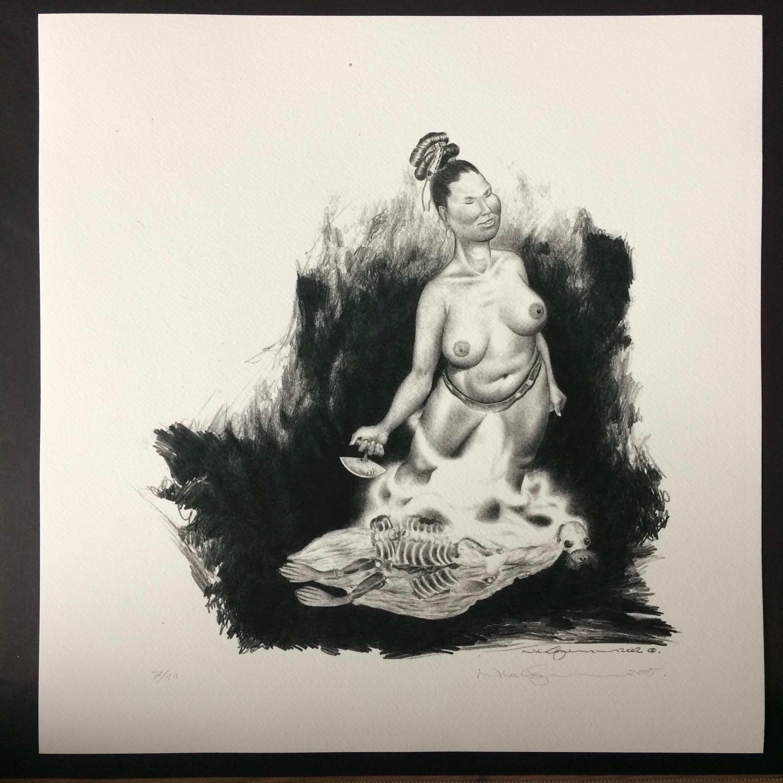 Woman & Seal