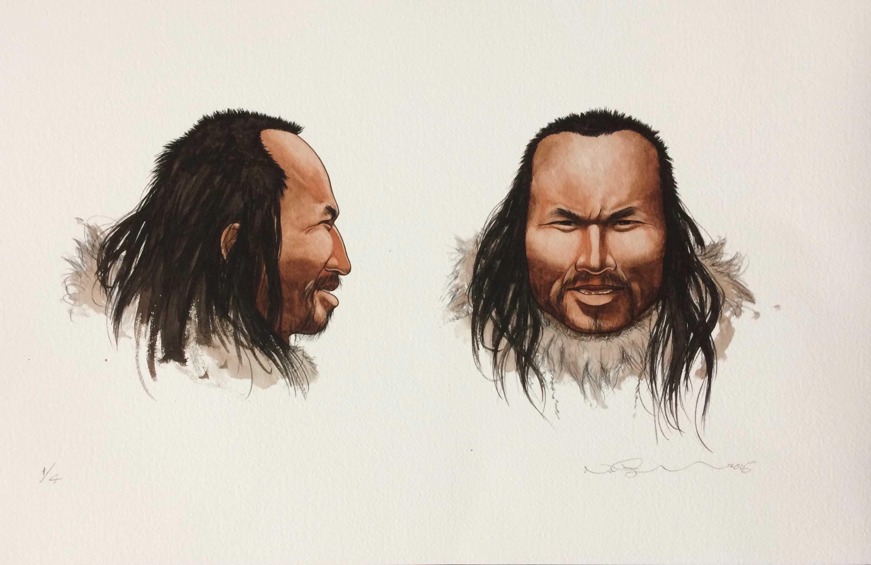 Portræt af Saqqaq-mand
