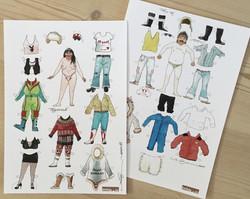 Paper dolls - Tittu & Tippoorak'