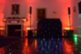 Black LED Dancefloor with Matching Booth