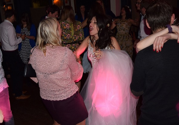 Bride Lisa having a boogie, DJ Jules, Wedding DJ London