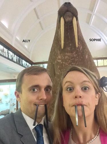 Walrus selfie wedding fun, DJ Jules, Wedding DJ London