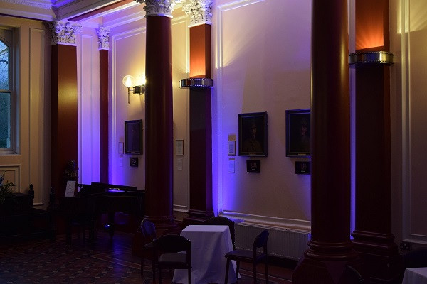 Mood lighting at Dulwich College, DJ Jules, Wedding DJ london