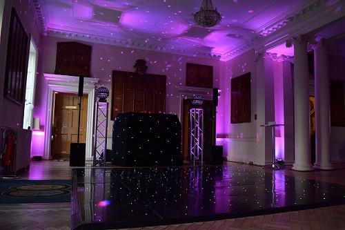 Pink moodlighting, DJ Jules, Wedding DJ London, London Party DJ