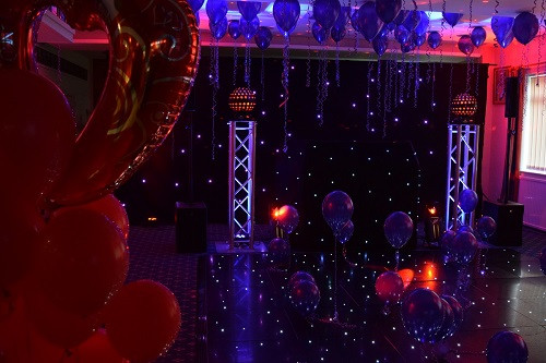 Red and Purple Colour Theme Throughout