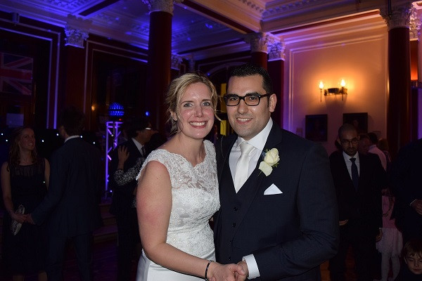 Bride Sarah and groom Selim, DJ Jules, Wedding DJ London