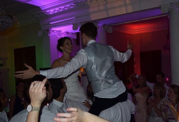 DJ Jules, Wedding DJ London, Bride and Groom Riding High!