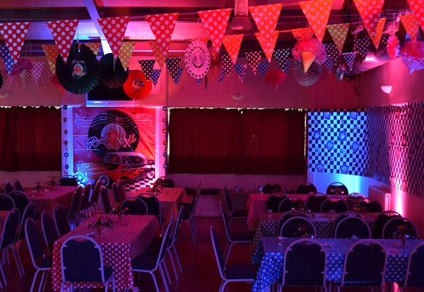 Mood lighting for 50s themed event, DJ Jules, London Party DJ