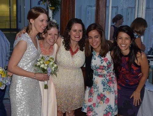 Hannah and Pippa with friends, The Horniman wedding, DJ Jules, Wedding DJ London