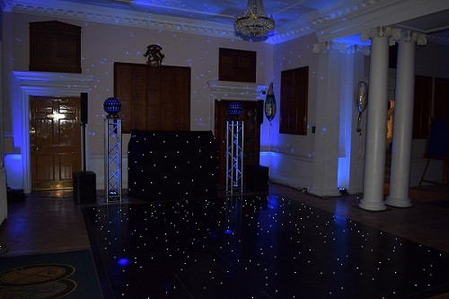 Starlight Booth and Black LED Starlight Floor.