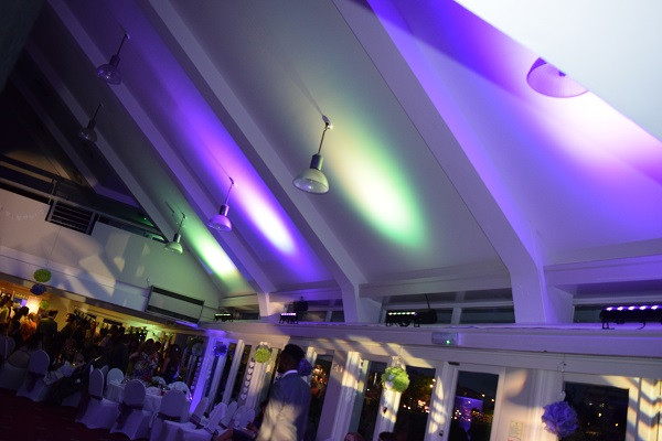 Mood lighting, London Wedding DJ