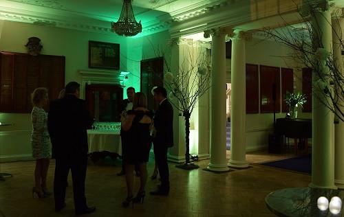 Moodlighting for drinks reception, DJ Jules