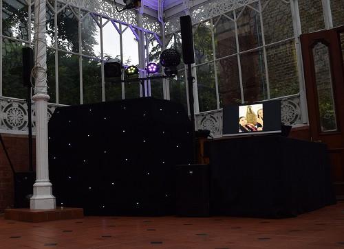 Set up for wedding The Horniman Museum, DJ Jules, Wedding DJ London