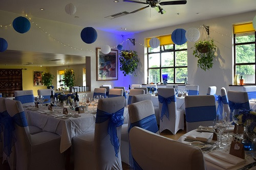 Blue mood lighting, DJ Jules, Wedding DJ London