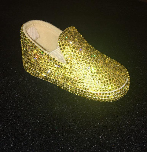 Customized Infant/Toddler Genuine Swarovski Crystal Shoes