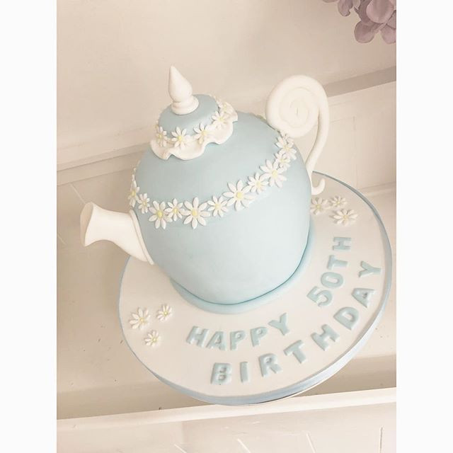 Pleasant A Gorgeous Tea Pot Cake Today Teapot Personalised Birthday Cards Cominlily Jamesorg
