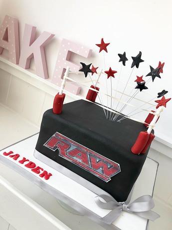 WWE RAW CAKE! #cakedesigning #cakelove #