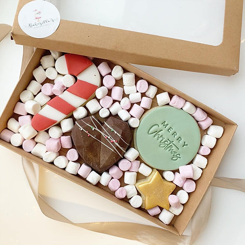 Christmas Cookie & Hot Chocolate Bomb Gift Box  £12.50