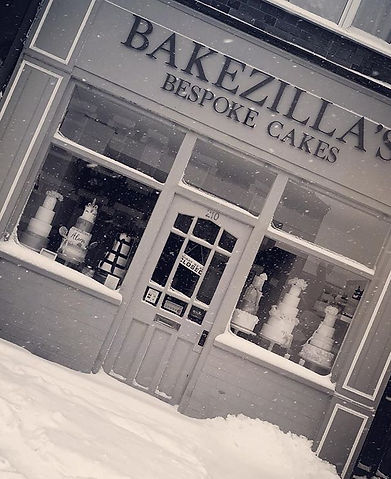 How gorgeous does the snow make the shop