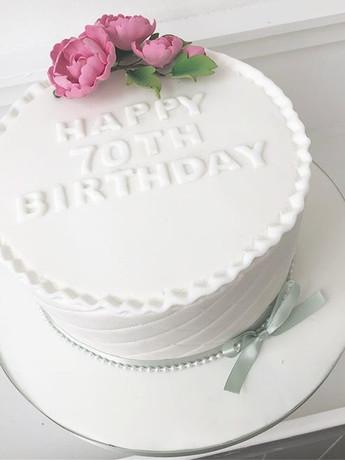 Happy 70th Birthday Cake! #birthdaycake