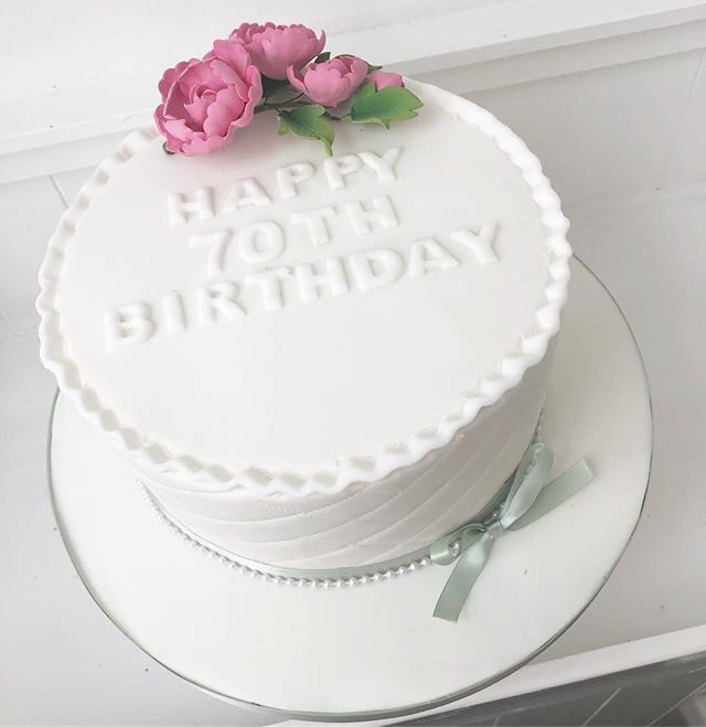 Happy 70th Birthday Cake Birthdaycake