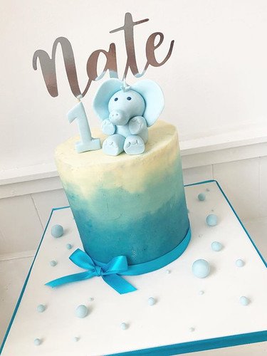 #a gorgeous first birthday cake for Nate